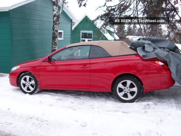 2005 red toyota camry solara convertible 3 3l v6. Black Bedroom Furniture Sets. Home Design Ideas