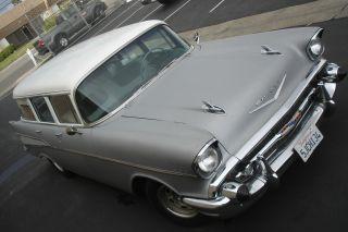 1957 Chevrolet 210 4 Door Station Wagon Straight Driver photo