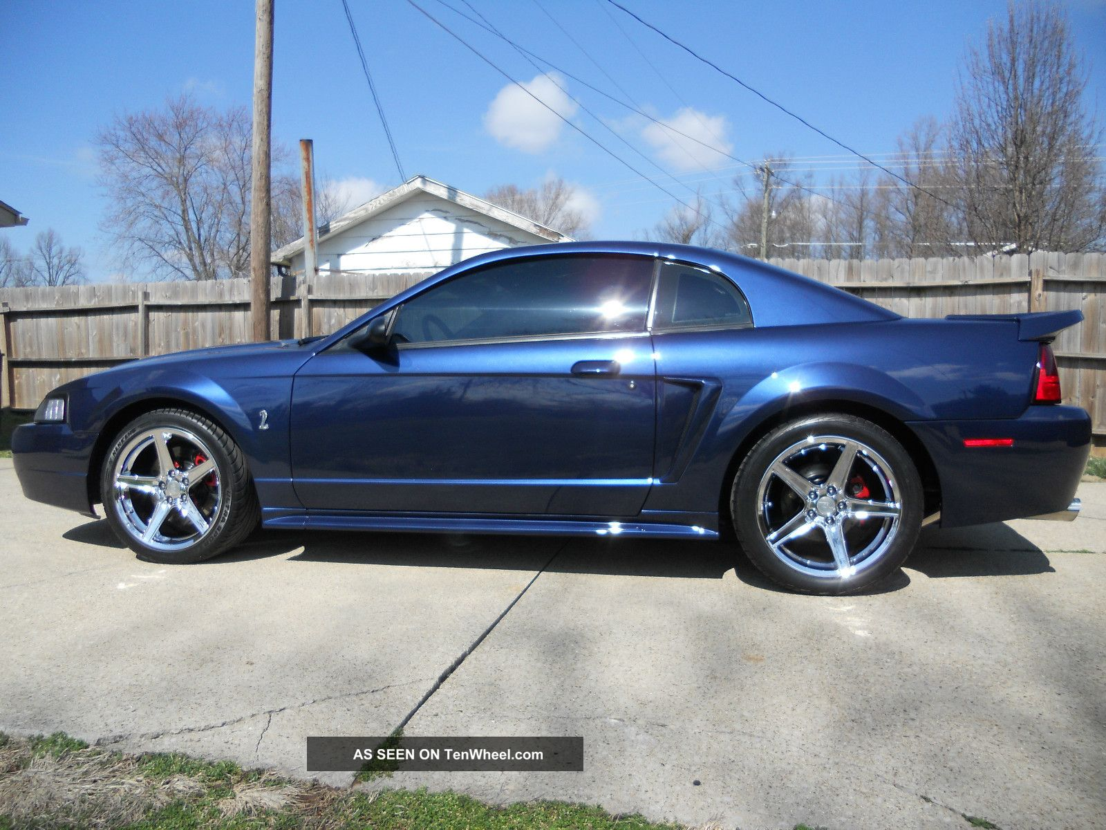 2001 ford mustang svt cobra coupe true blue