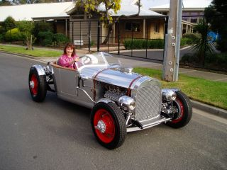 1928 Ford A Roadster Hotrod Hand Crafted Aluminium Body Detailed Flathead Engine photo