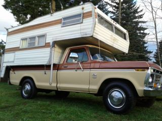 1976 Ford F250 Camper Special With The Camper,  Custom Trim Package photo