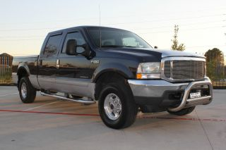 2002 Ford F250 Duty Lariat Crew Cab Short Bed 4 Door 7.  3l Diesel 4x4 Texas photo