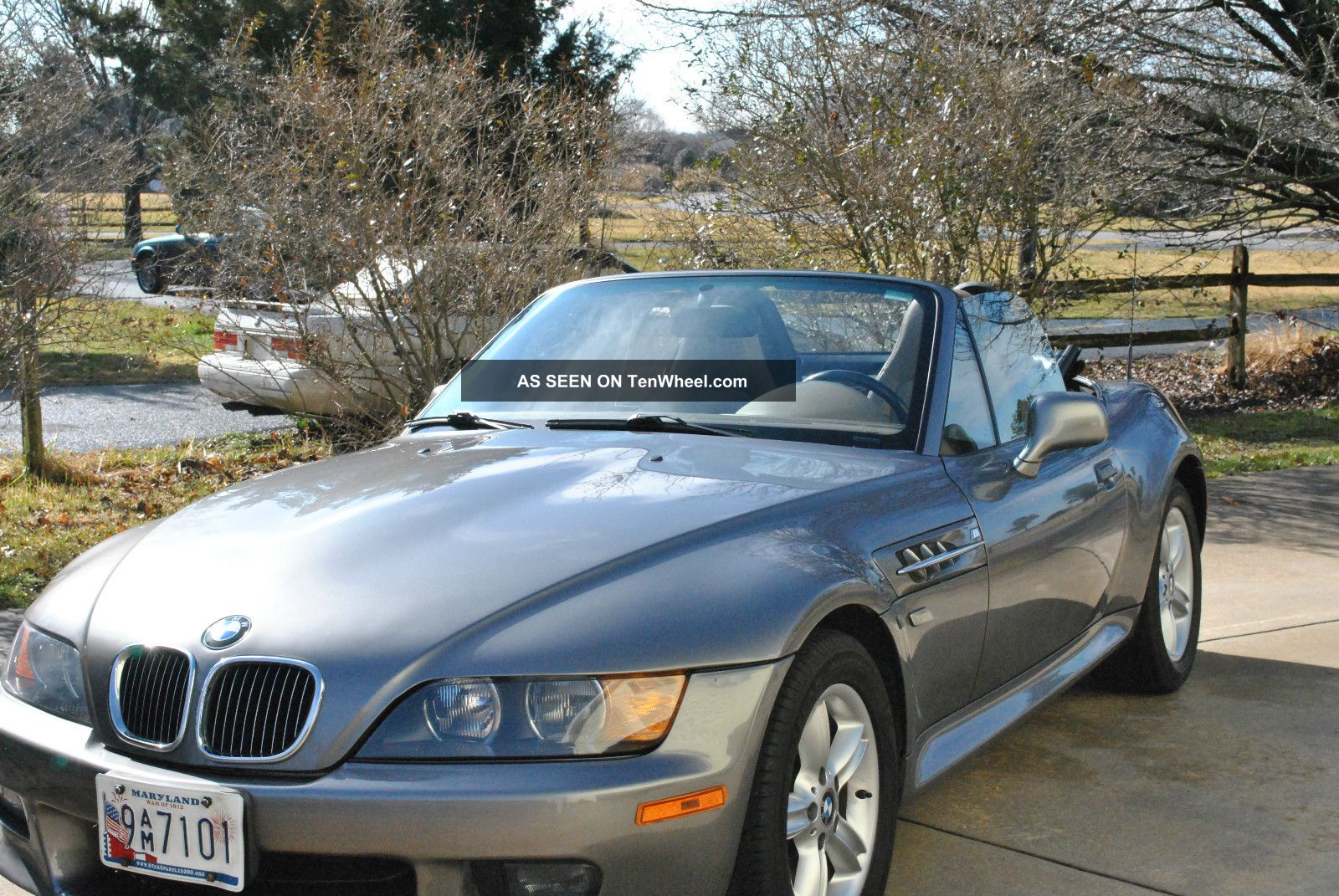 2001 Bmw Z3 Roadster Convertible 2 Door 2 5l