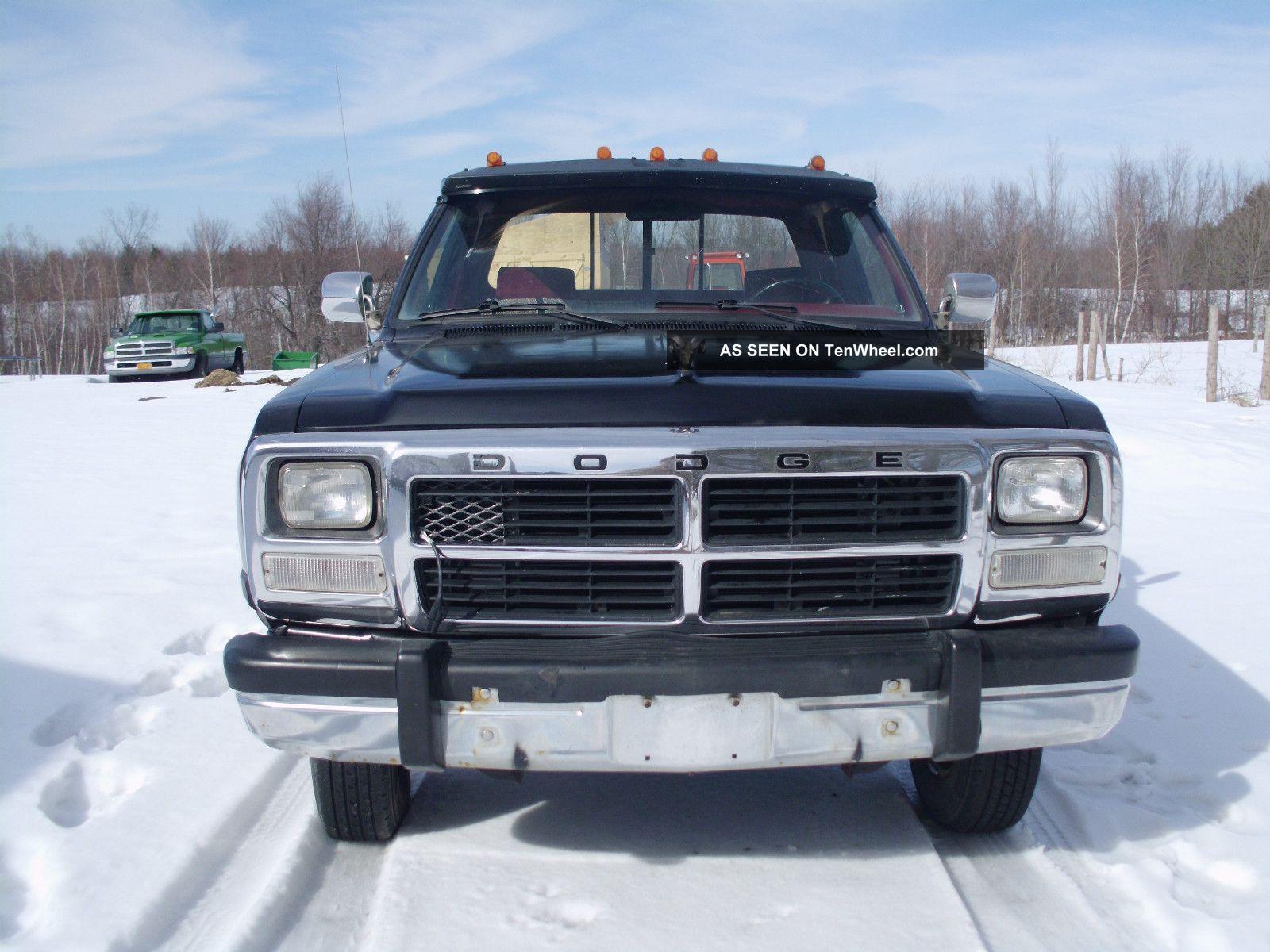 1992 dodge ram 350 cummins turbo diesel dually 4x4. Black Bedroom Furniture Sets. Home Design Ideas