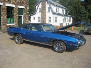 1971 Pontiac Le Mans Sport Convertible Gto Options 400 Auto Runs & Lot Drives Nr photo