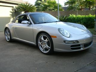 2007 Porsche 911 Carrera 4s Convertible 2 - Door 3.  8l Silver / Dark Gray photo
