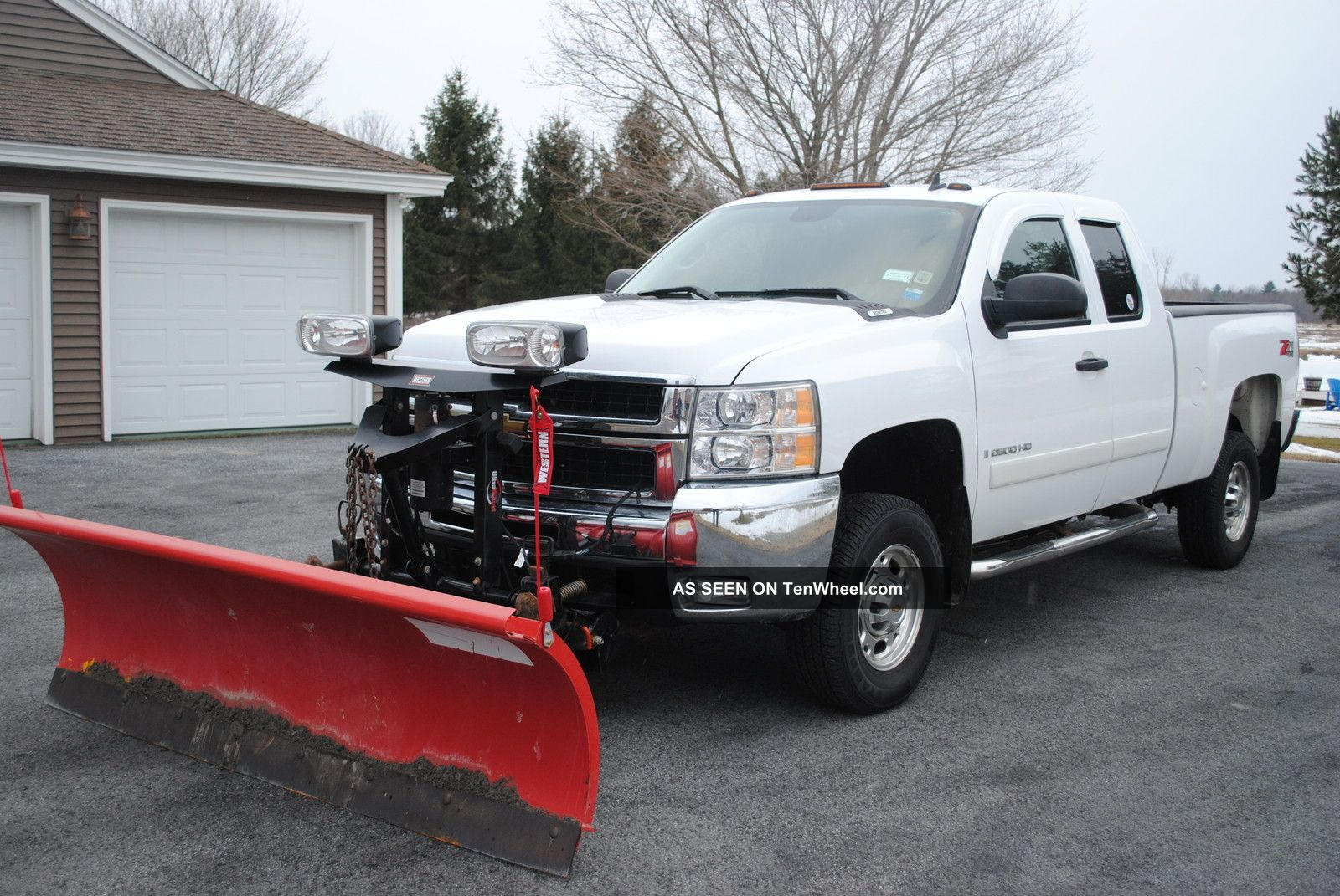 2008 chevy silverado 2500 hd 4x4 towing package western plow liner low