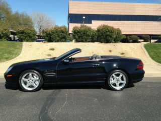 2004 Mercedes - Benz Sl55 Amg 31k Mls Pano Roof Pdc Black / Black Condition photo