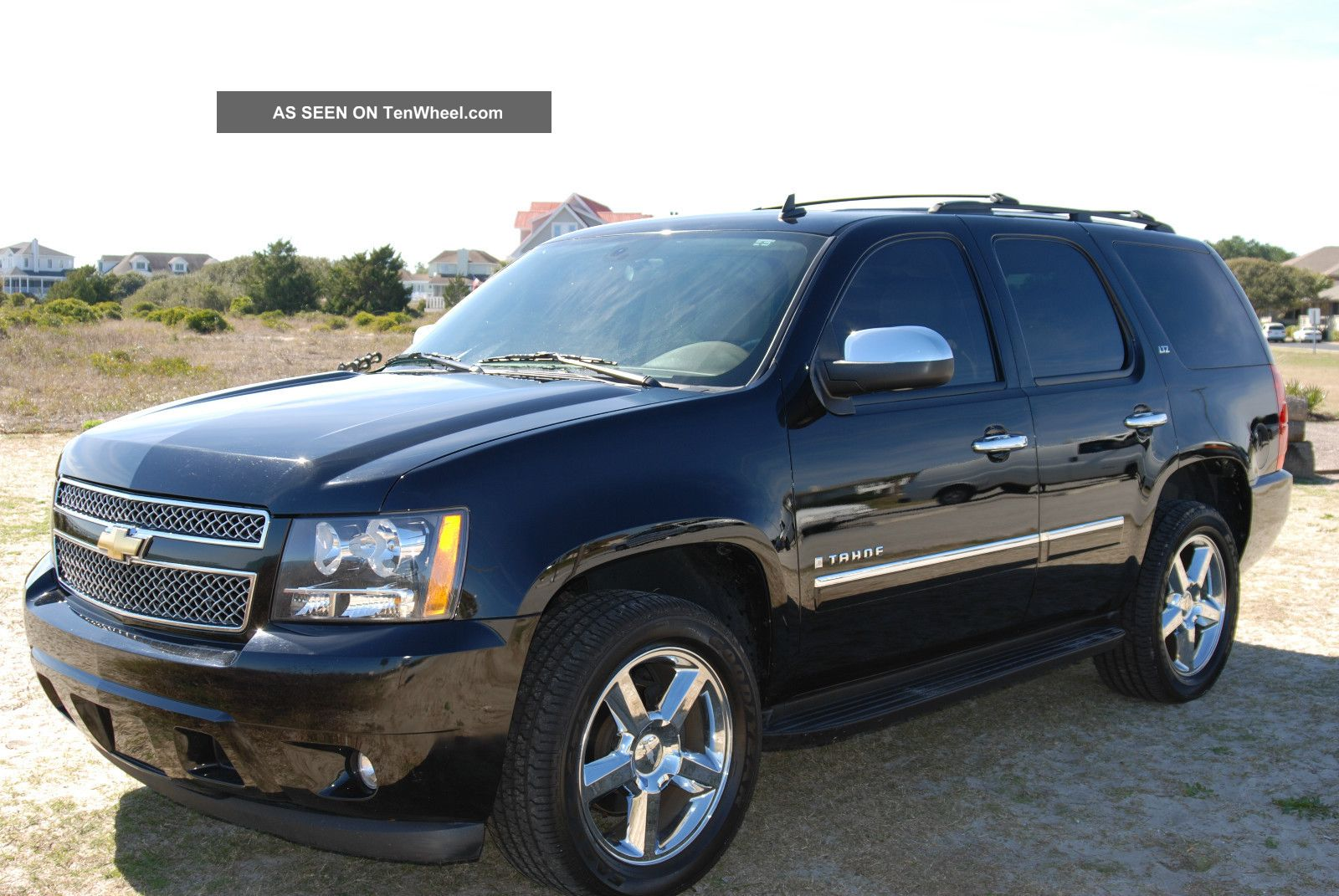 awesome black fully loaded 2009 chevrolet tahoe ltz. Black Bedroom Furniture Sets. Home Design Ideas