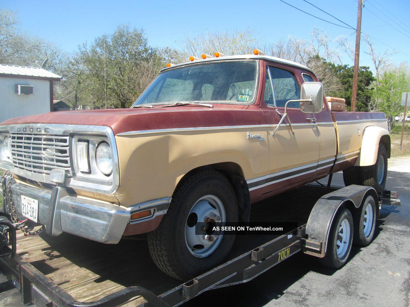 Texas Barn Find Dodge D Dually Club Cab Mopar Ton Nr Lgw on 1977 Dodge Power Wagon 150 Specs