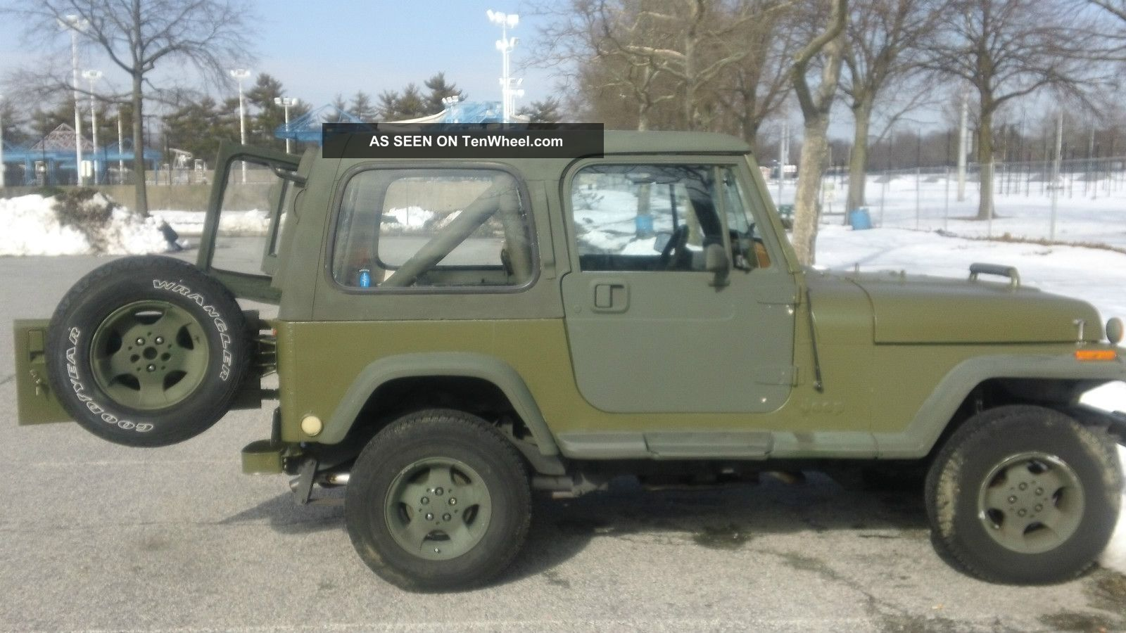 1988 jeep wrangler yj 6 cyl condition fair green od. Cars Review. Best American Auto & Cars Review