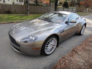 2010 Aston Martin V8 Vantage 4.  7l Sportshift Tungsten Silver / Chancellor Red photo
