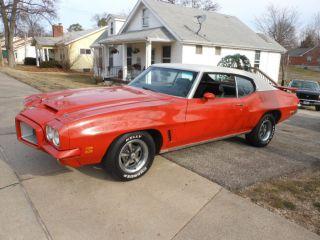 1972 Pontiac Gto Gto Sundance Orange W / White Top W / Build Sheet A / C Car photo