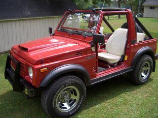 1986 Suzuki Samurai - Red - 4x4 - 5 Speed - Soft Top,  Newer Engine, photo