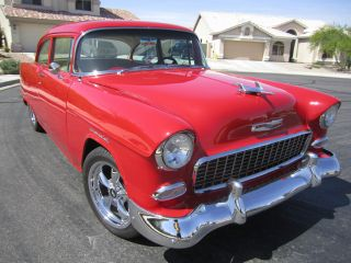 Head Turning 1955 Chevy 210 2dr Post Resto Mod photo