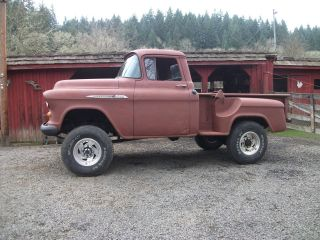 1955 Chevy Short Box Pickup,  4x4 With 6
