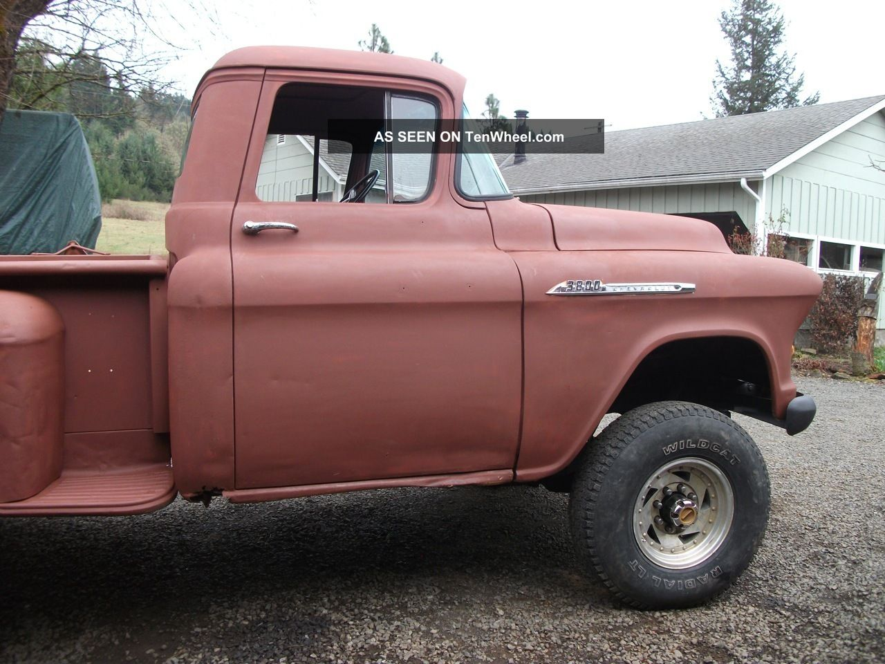 Chevy Short Box Pickup X With Lift Chevrolet Stepside Lgw on 235 6 Cyl Chevy Id