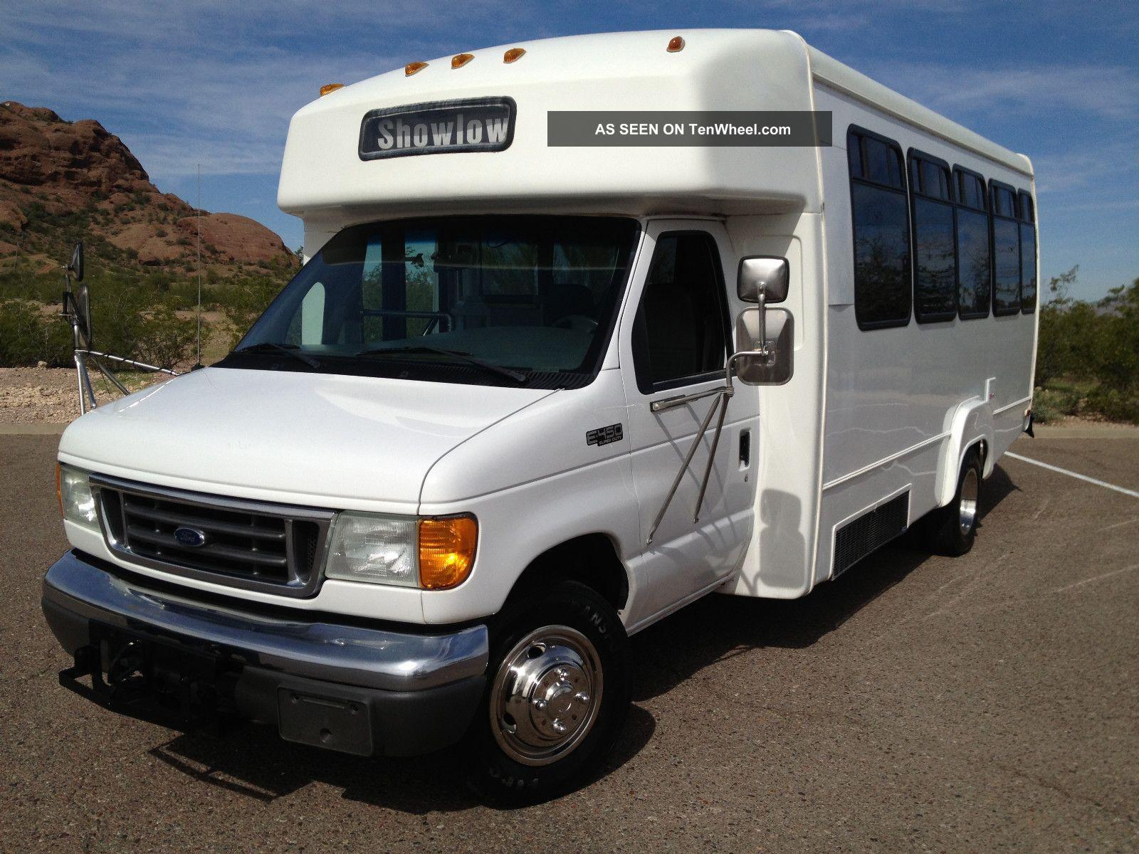 2005 Ford E 450 Diesel 18 Passenger Shuttle Bus