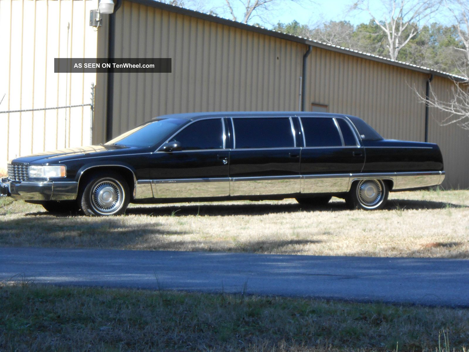 1995 cadillac fleetwood limousine black 50 inch stretch miller meteor. Cars Review. Best American Auto & Cars Review