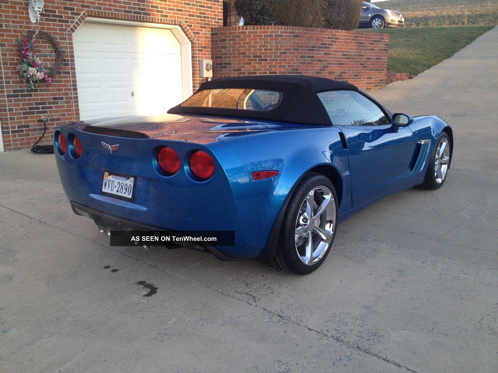 2011 grand sport corvette convertible 3lt jet stream blue 2 lgw - 2011 Chevrolet Corvette Convertible 3lt