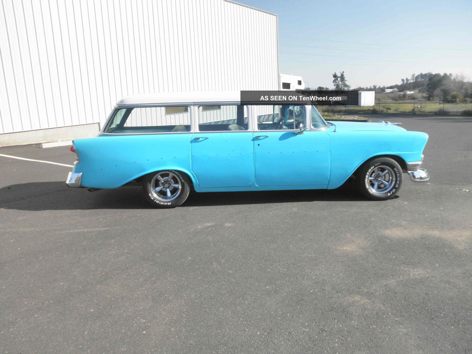 1956 chevy 210 4 door station wagon