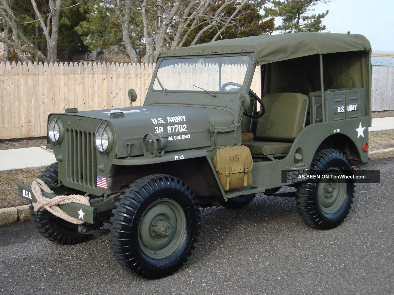 Willys 1963 Cj3b Army M606 Style Vietnam Military Type ...