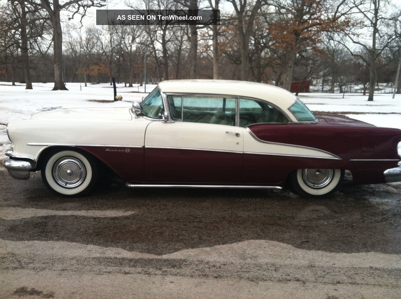 1955 Oldsmobile 88 Holiday Hardtop Coupe.  Mild Custom.  Air Ride.  Hot Rod Eighty-Eight photo