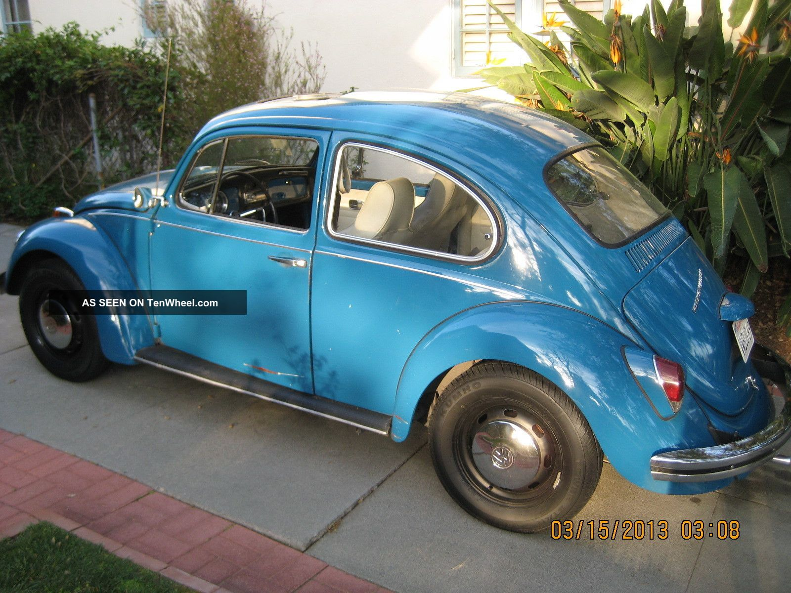 1969 Volkswagen Beetle - Vw Bug With And Pop - Out Rear Windows