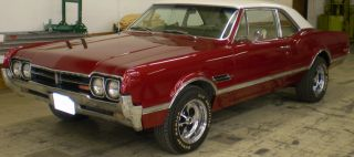 1966 Olds Cutlass 442,  Red / White,  And Transmission photo