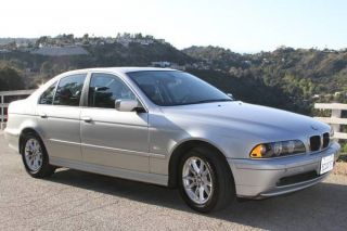 2003 A+ Accident Bmw 525i Sedan Automatic Silver Luxury Car photo