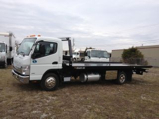 2013 Mitsubishi Fe - 180 And A Dual - Tech 8103 Rollback Tow Body photo