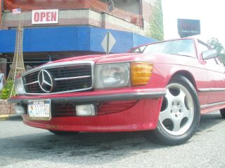 1984 Mercedes Benz Red Convertible 500sl Special Edition 6,  8k Milleage Only photo