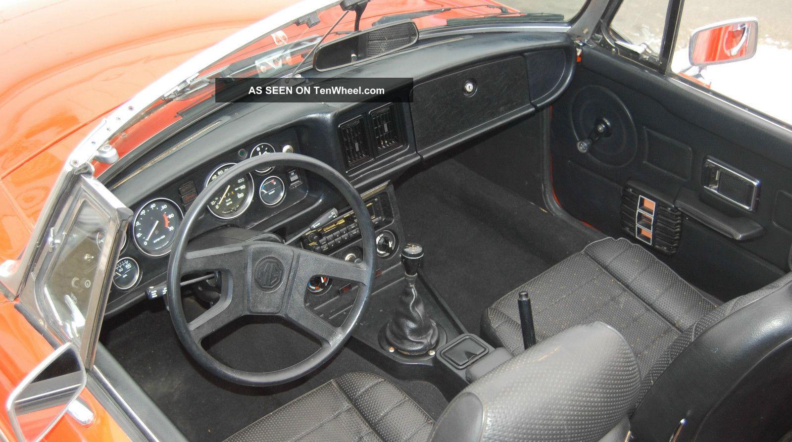 Red Mgb Roadster Lgw