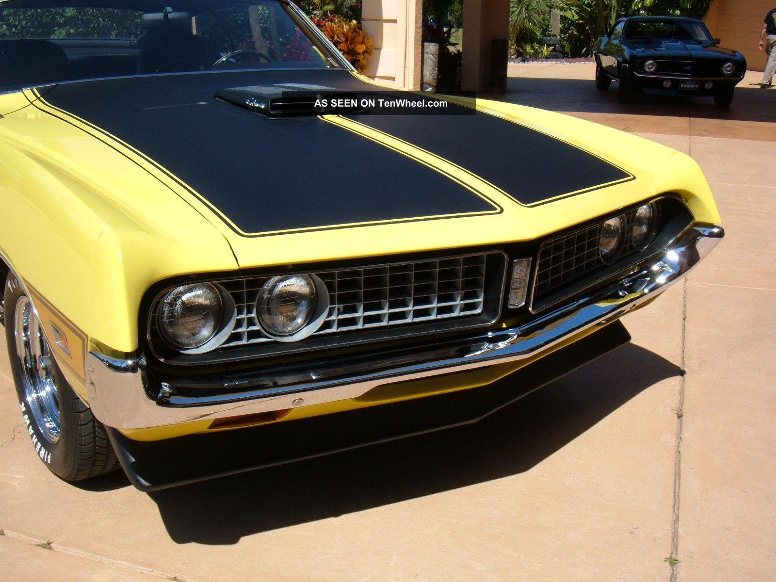 1971 Ford Torino Gt, Grabber Yellow, 351, 4 Spd, Shaker Hood