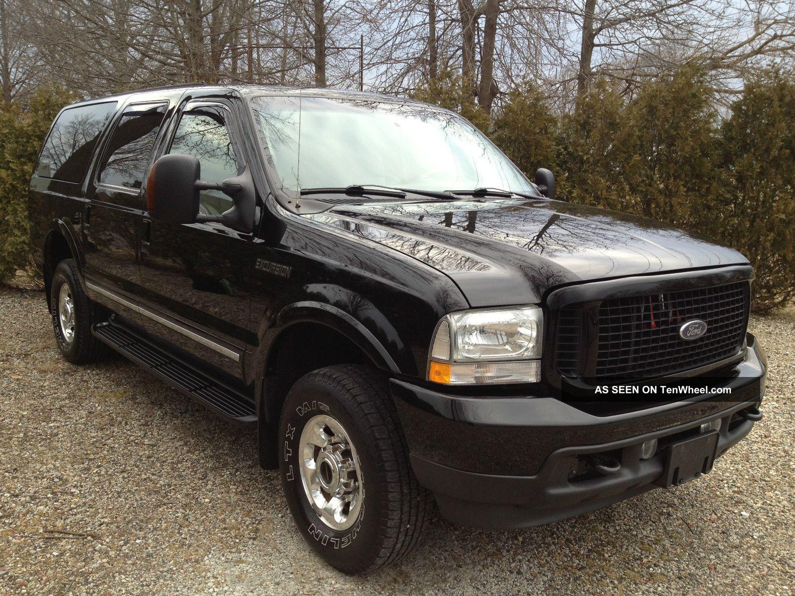 2004 ford excursion limited diesel black beauty. Black Bedroom Furniture Sets. Home Design Ideas