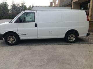2003 Gmc Savana Cargo Van With Mobile Detailing Equipement photo