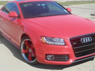 Red 2009 Audi A5 - Sports Package photo