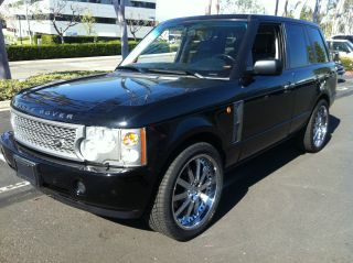 2004 Range Rover Full Size Hse Luxury Black On Grey 132000mi photo