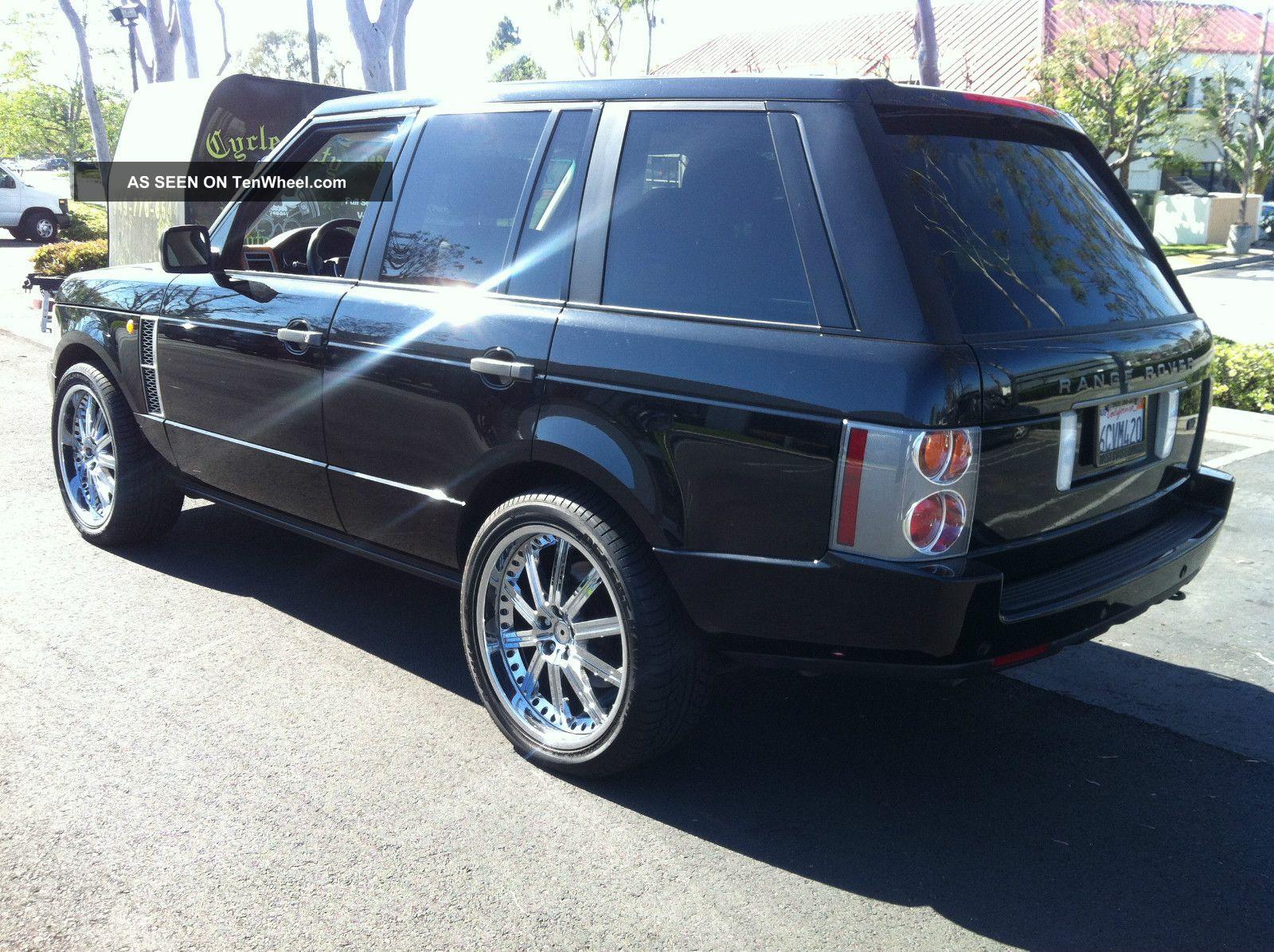 2004 range rover full size hse luxury black on grey 132000mi. Black Bedroom Furniture Sets. Home Design Ideas