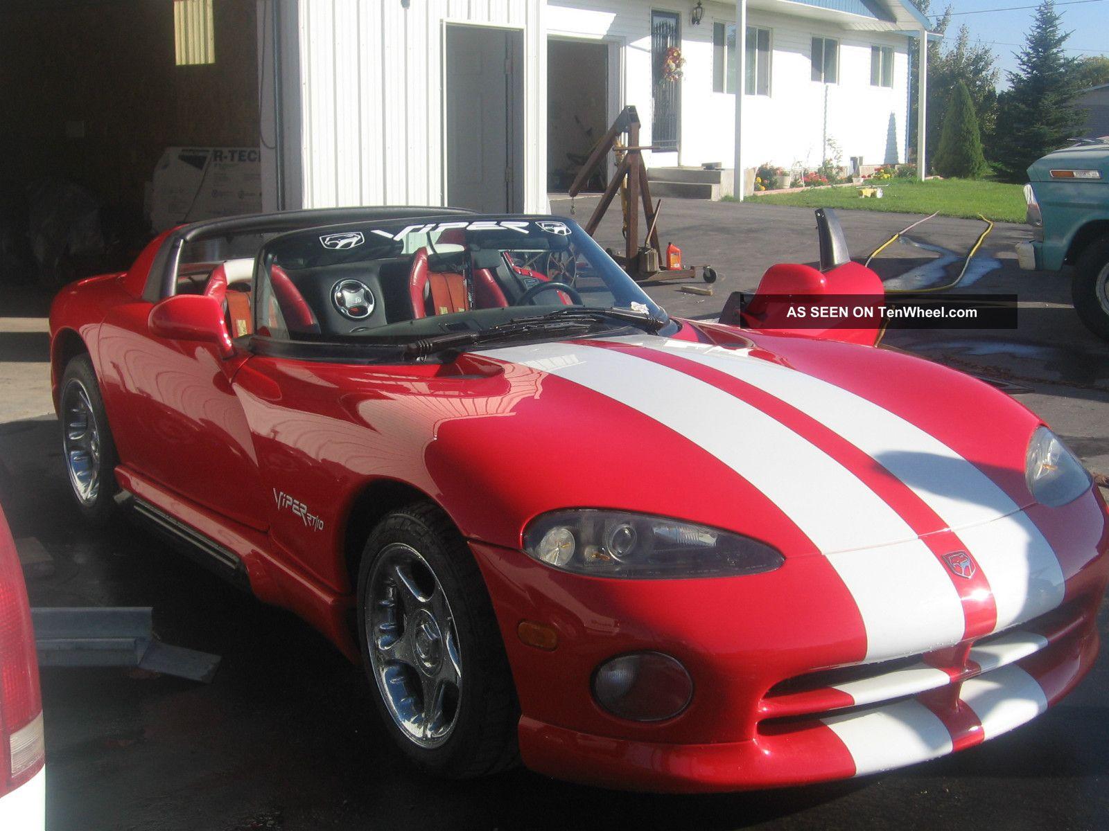 Dodge Viper Rt Red W White Stripes Lgw