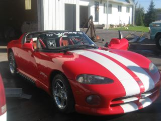 1993 Dodge Viper Rt10 Red W / White Stripes photo