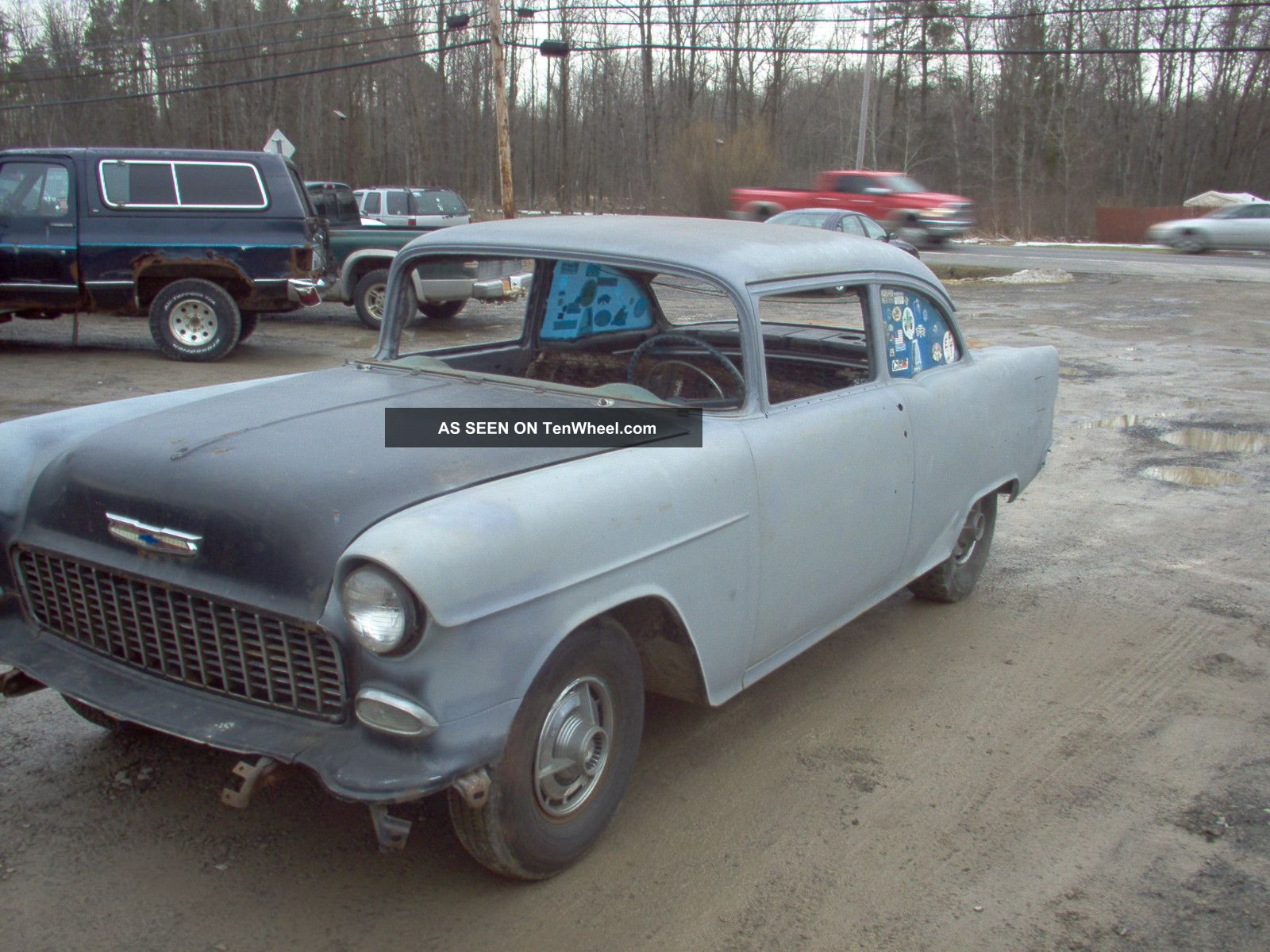 1955 chevy belair 210 2 door sedan with drivetrain for 1955 chevy 2 door sedan