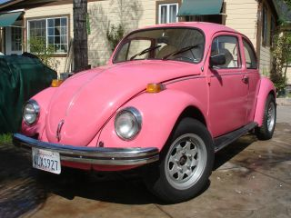 Vw Beetle 1973 Barbye Car,  Pink In&out,  Title,  Runing,  Ready 4 Summer photo