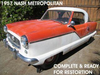 - - 1957 Nash Metropolitan Complete Project California Amc Classic Pininfarina photo