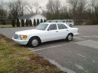 1990 Mercedes Benz 300se White Very photo