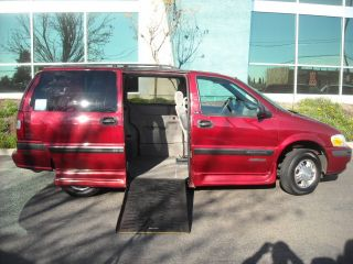 Wheelchair Accessible 2003 Red Chevrolet Venture W / Side Entry Ramp photo