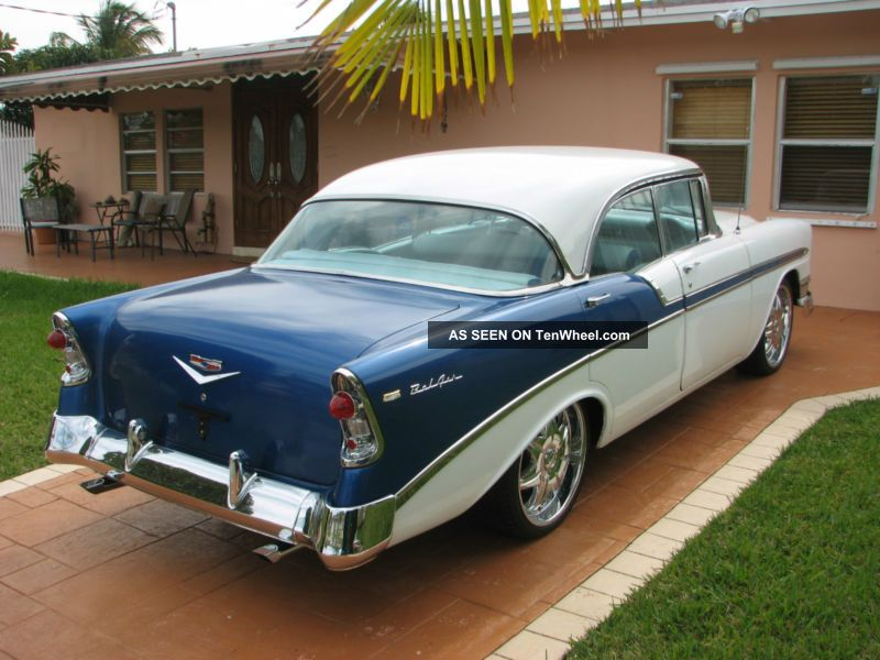 1956 No Post Sedan Total Restoration Looks And Rides Excellent Rare No Post Bel Air/150/210 photo