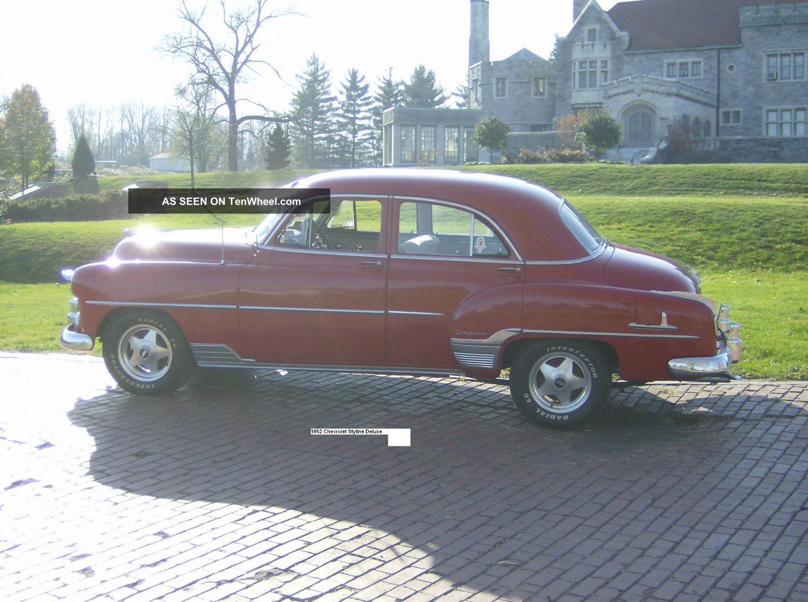 1952 chevrolet chevy styline deluxe 4 door for 1952 chevy 4 door