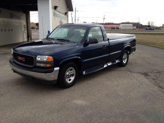 2002 Gmc Sierra Full Size Truck - Great Looking Blue Beauty - 22mpg photo