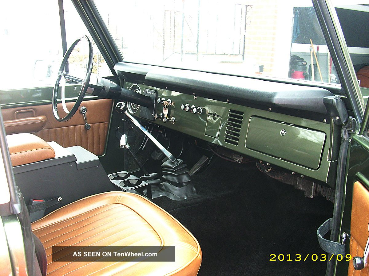 1969 Ford Bronco Interior 1969 Ford Bronco Half Cab